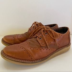 Toms Wingtip Oxford Lace Up Casual Dress Shoes